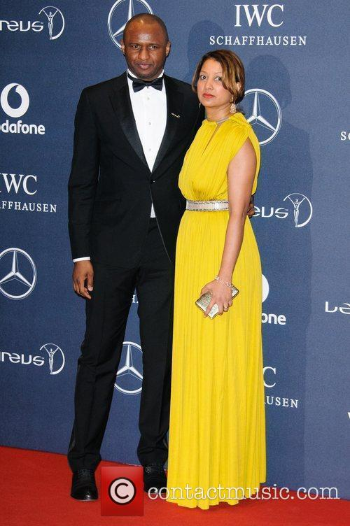 Patrick Vieira and Cheryl Vieira Laureus Sport Awards...