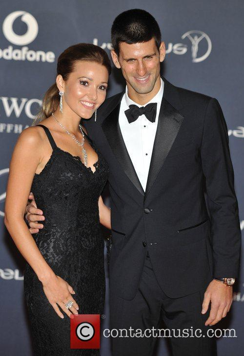 Novak Djokovic and guest Laureus Sport Awards held...