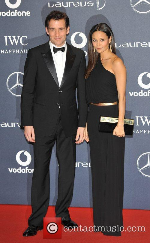 Clive Owen and Thandie Newton Laureus Sport Awards...