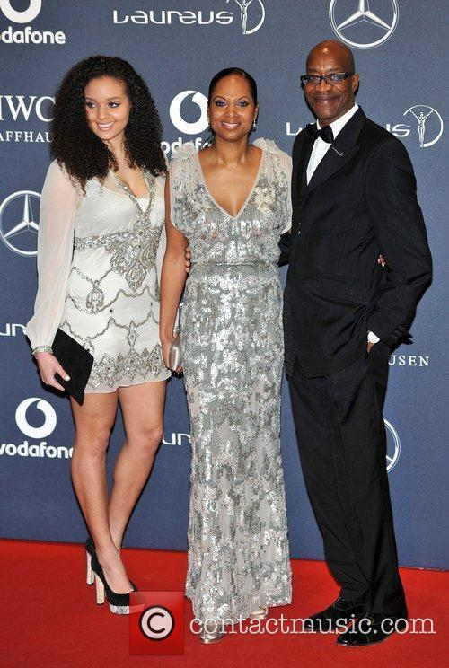 Edwin Moses and guests Laureus Sport Awards held...