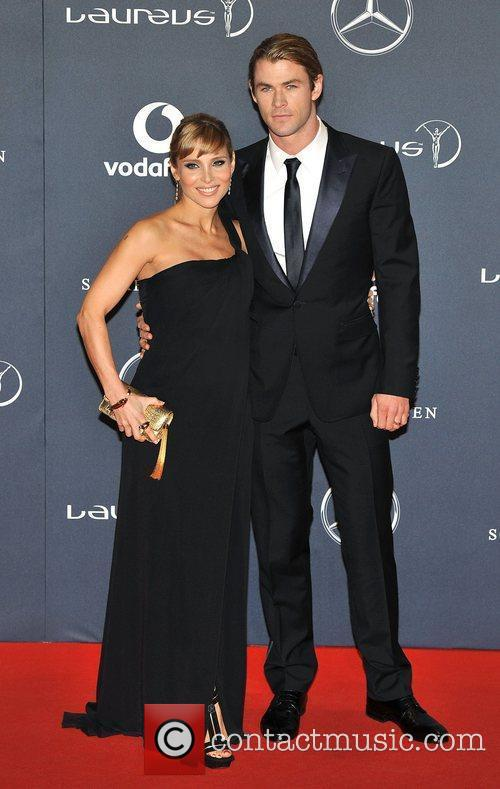 Elsa Pataky and Chris Hemsworth Laureus Sport Awards...
