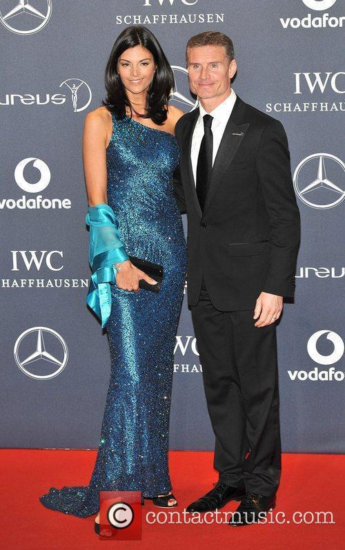 David Coulthard and Karen Minier Laureus Sport Awards...