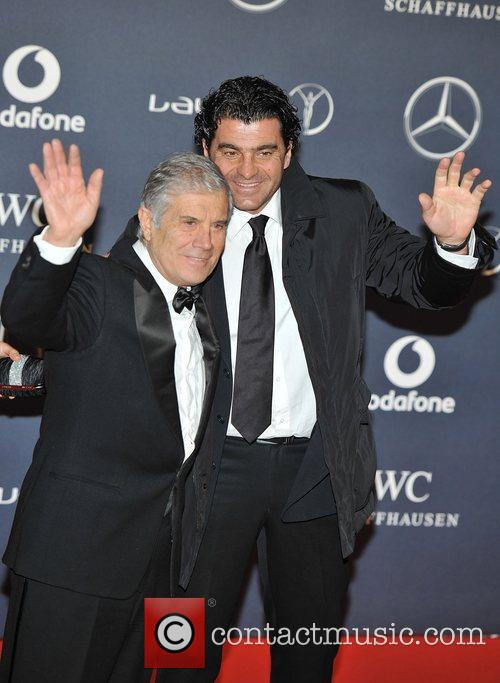 Alberto Tomba (R) and guest Laureus Sport Awards...