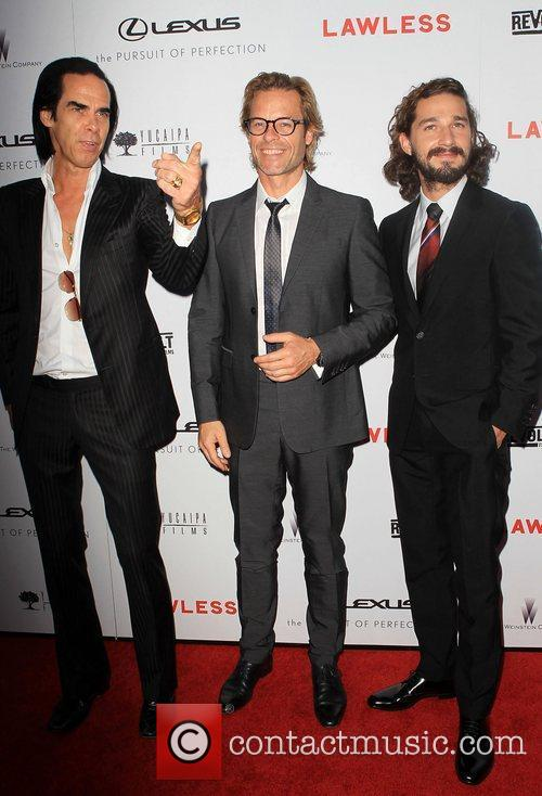 Nick Cave, Guy Pearce and Shia Labeouf 2