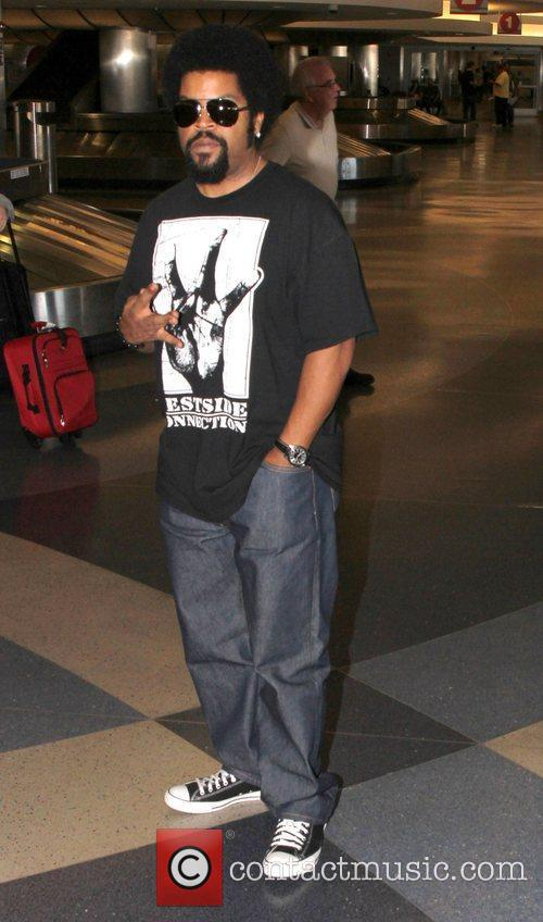 Ice Cube arrives at LAX airport Los Angeles,...