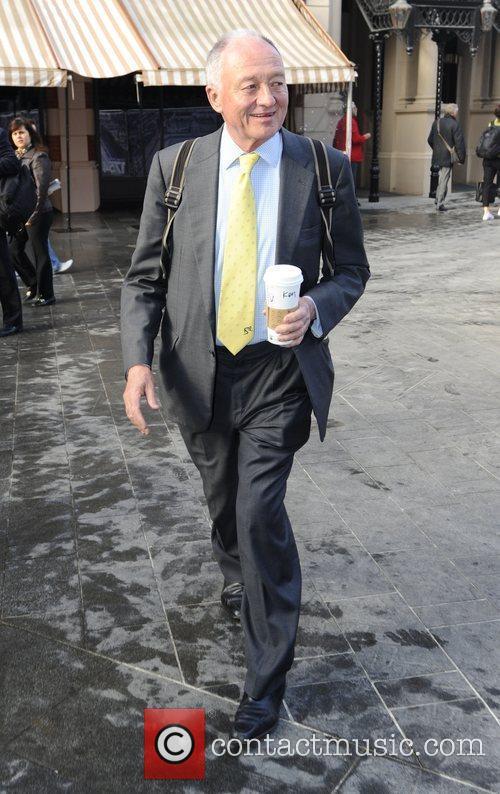 Ken Livingstone arrives at LBC Radio London, England