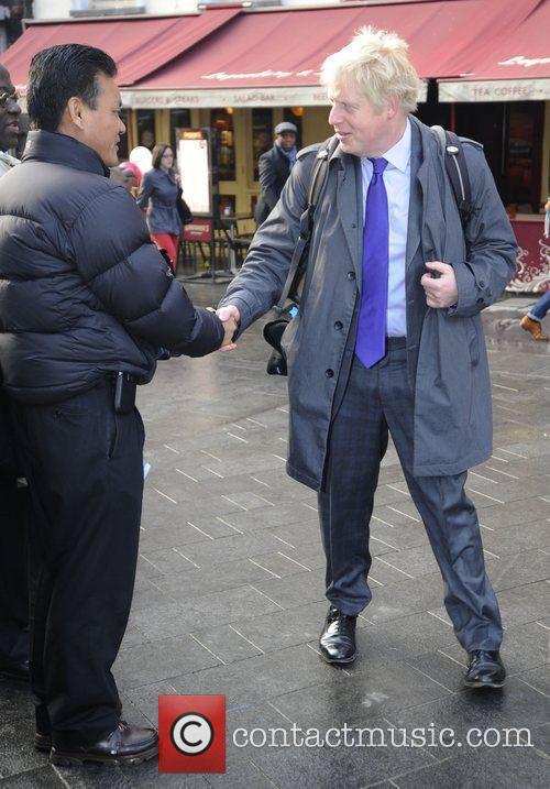 Mayor of London Boris Johnson outside LBC Radio...