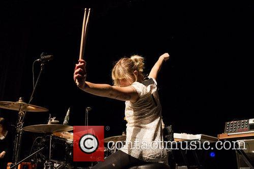 Lia Braswell of Le Butcherettes performing live at...