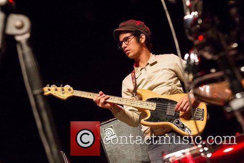 Omar Rodriguez of Le Butcherettes performing live at...