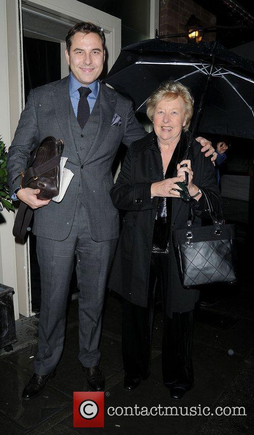 David Walliams and his mother Kathleen Walliams leaving...