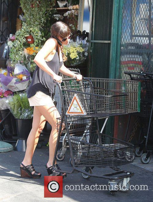 lea michele arriving at bristol farms to 4054343
