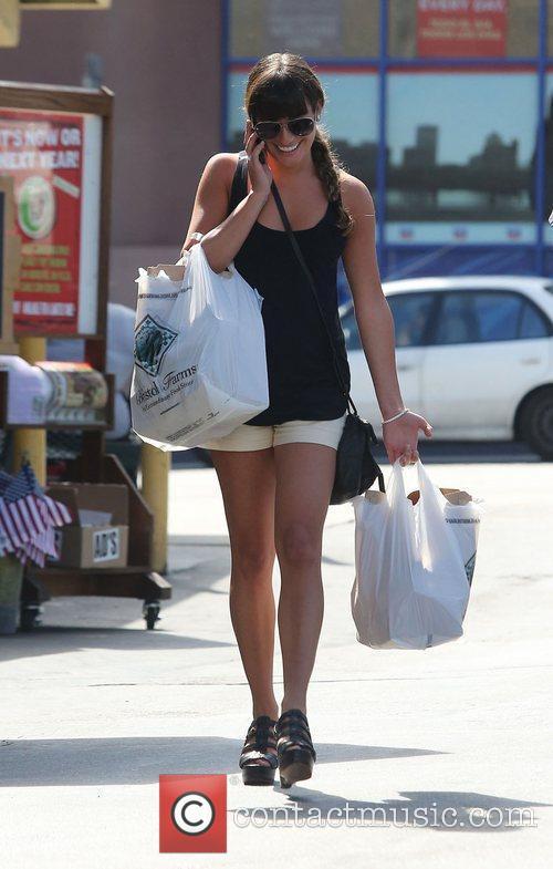 Lea Michele and Bristol Farms 4