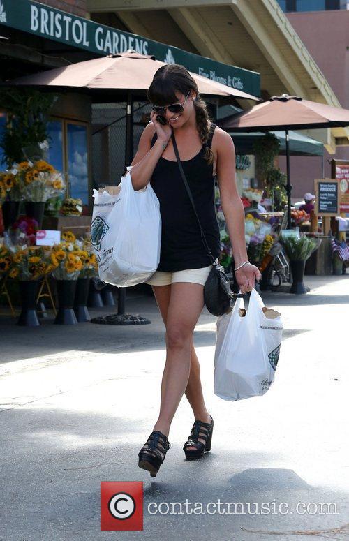 Lea Michele and Bristol Farms 5