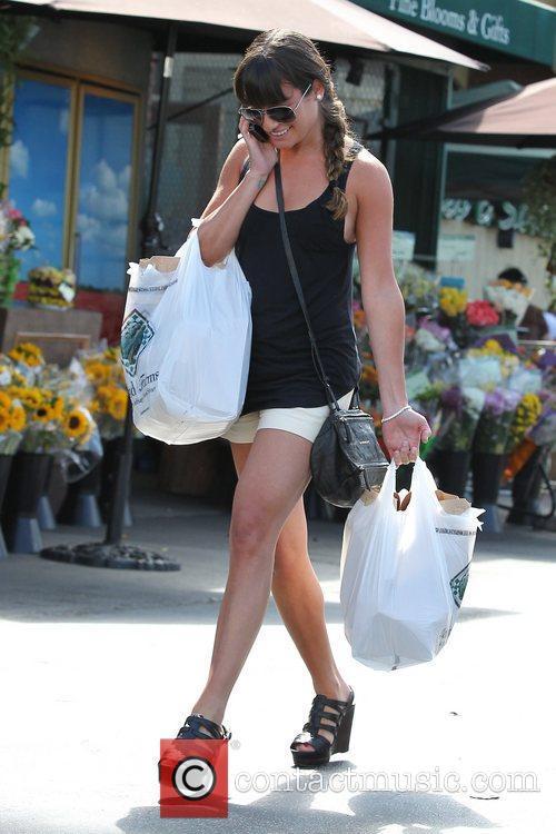 Lea Michele and Bristol Farms 13