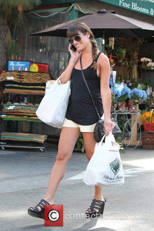 Lea Michele and Bristol Farms 14
