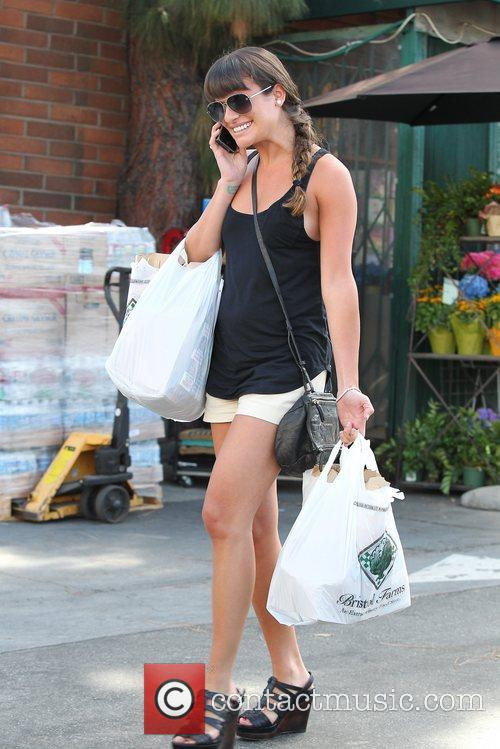 lea michele seen buying groceries at bristol 5902321