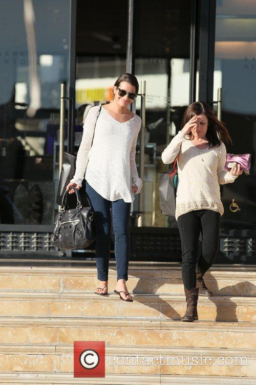 'Glee' star Lea Michelle leaves Barney's New York...