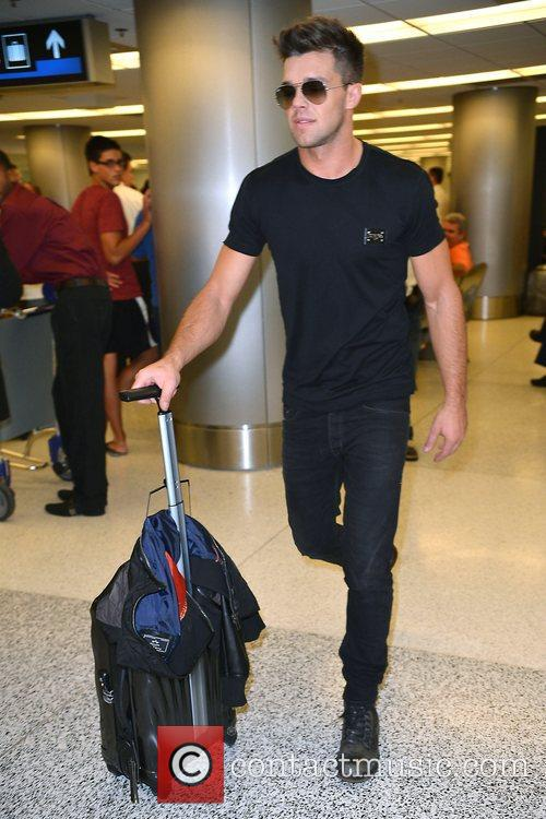 Leandro Penna  arrives at Miami International Airport...