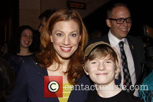 Jessica Phillips and Talon Ackerman Backstage at the...