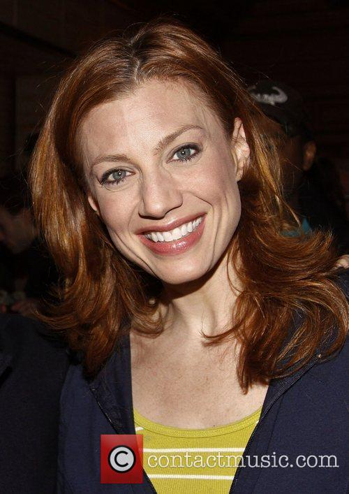 Jessica Phillips Backstage at the Broadway musical 'Leap...