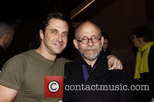 Raul Esparza and Bob Balaban Backstage at the...