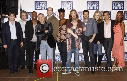 Photocall with the cast of the Broadway musical...