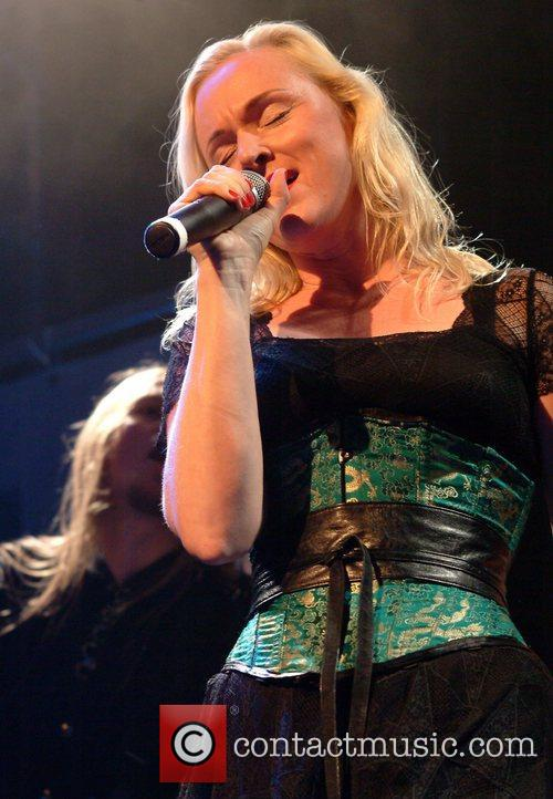 Liv Kristine of Leaves Eyes from Norway performs...