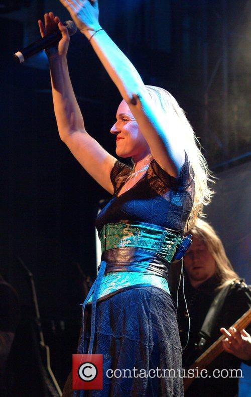 Liv Kristine of Leaves Eyes performs live at...