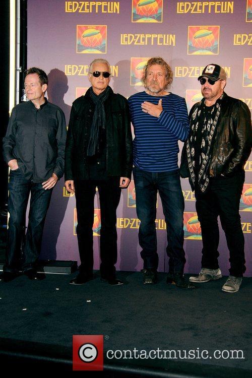 John Paul Jones, Jimmy Page, Robert Plant, Jason Bonham, Led Zeppelin, Celebration Day, Press Conference and New York City 7