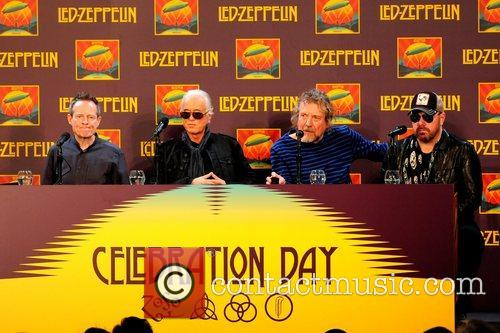 John Paul Jones, Jimmy Page, Robert Plant, Jason Bonham, Led Zeppelin, Celebration Day, Press Conference and New York City 9