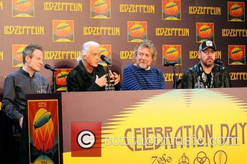 John Paul Jones, Jimmy Page, Robert Plant, Jason Bonham, Led Zeppelin, Celebration Day, Press Conference and New York City 6