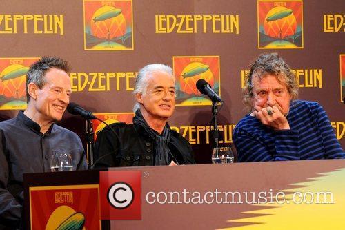 John Paul Jones, Jimmy Page, Robert Plant, Led Zeppelin, Celebration Day, Press Conference and New York City 1