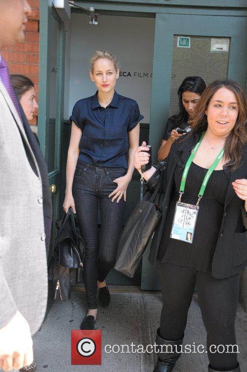 Actress Leelee Sobieski outside of the Greenwich Hotel...