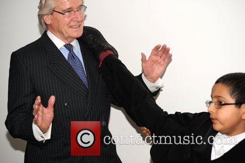 William Roache MBE receives a playful high kick...