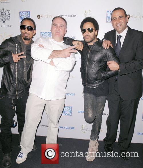 Dallas Austin, Jos, Andr, Lenny Kravitz and Sam Nazarian 1