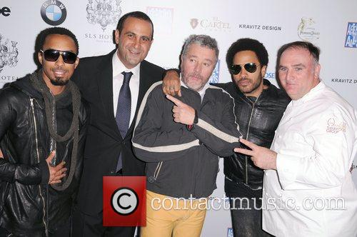 Dallas Austin, Sam Nazarian, Philippe Starck, Lenny Kravitz, Jos and Andr 2