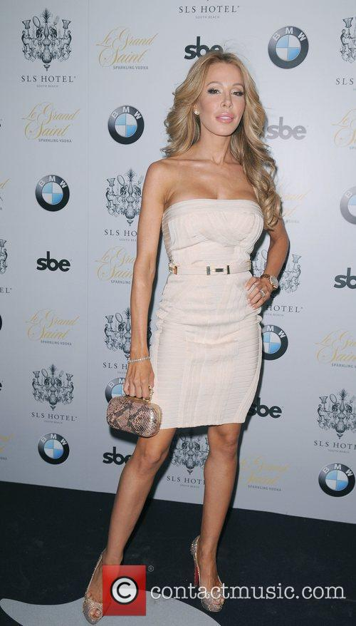 Arrives at the Grand Opening of SLS Hotel...