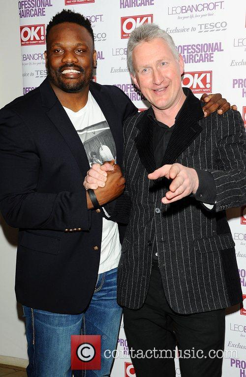 Dereck Chisora and Lembit Opik,  at the...