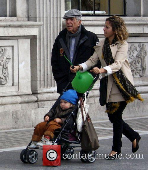 Out and about with his grandson in Dublin