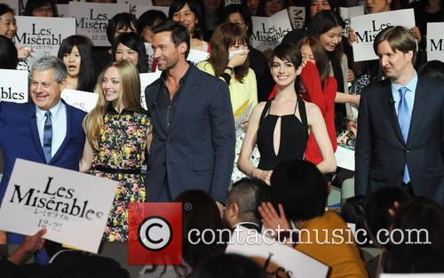 Hugh Jackman, Les Miserables, Amanda Seyfried, Anne Hathaway and Tom Hooper 2