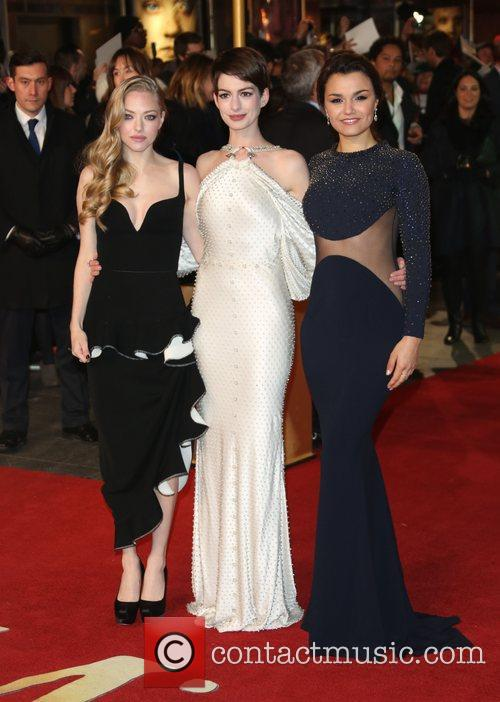 Anne Hathaway, Amanda Seyfried, Samantha Barks and Empire Leicester Square 3