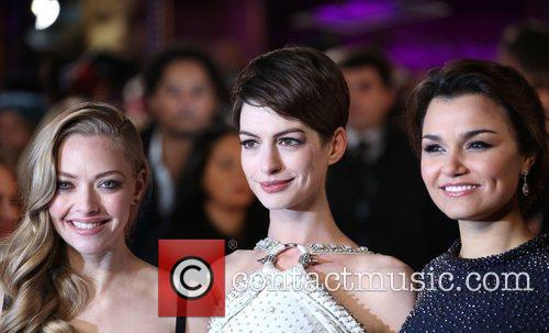 Anne Hathaway, Amanda Seyfried, Samantha Barks and Empire Leicester Square 4