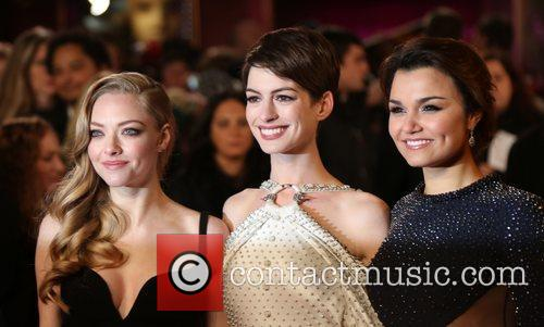 Anne Hathaway, Amanda Seyfried, Samantha Barks and Empire Leicester Square 2