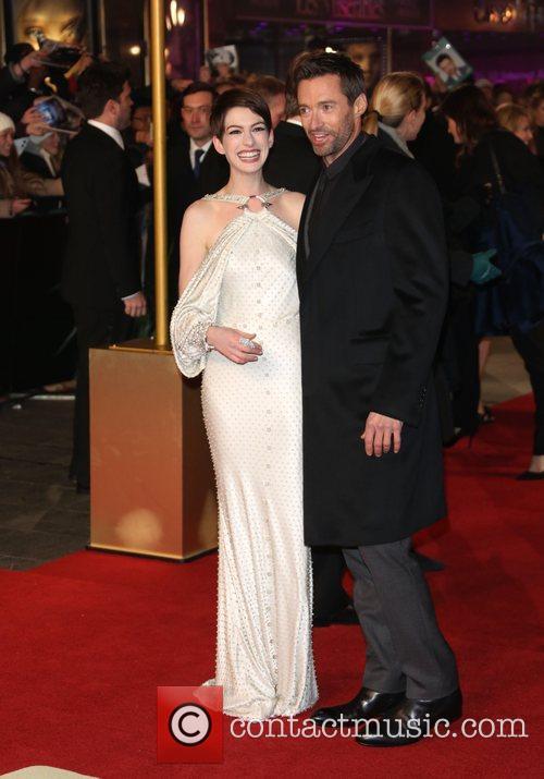 Anne Hathaway and Hugh Jackman World Premiere of...