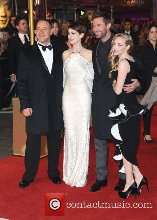 Russell Crowe, Anne Hathaway, Amanda Seyfried Hugh Jackman and Empire Leicester Square 10