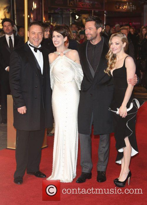 Russell Crowe, Anne Hathaway, Amanda Seyfried Hugh Jackman and Empire Leicester Square 11