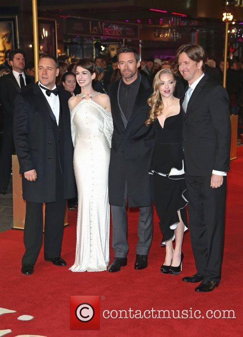 Russell Crowe, Anne Hathaway, Amanda Seyfried Hugh Jackman, Tom Hooper and Empire Leicester Square 9
