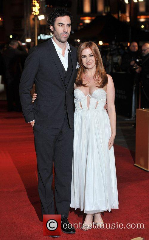 Sacha Baron Cohen, Isla Fisher and Empire Leicester Square 1