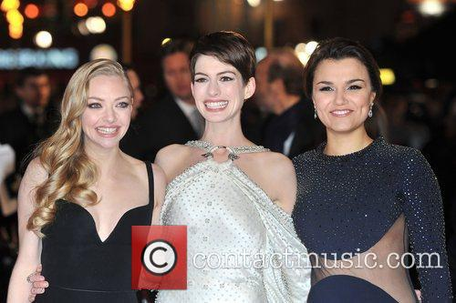 Anne Hathaway, Amanda Seyfreid, Samantha Barks and Empire Leicester Square 5