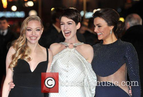 Anne Hathaway, Amanda Seyfreid, Samantha Barks and Empire Leicester Square 8